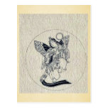 Woman with wings-religious figure postcard