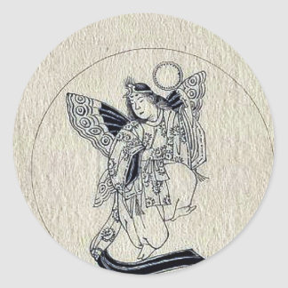 Woman with wings-religious figure sticker