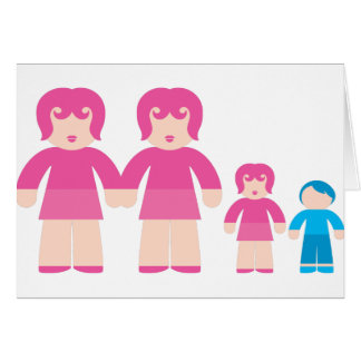 Woman Woman and children Greeting Card
