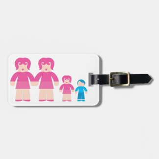 Woman Woman and children Bag Tags