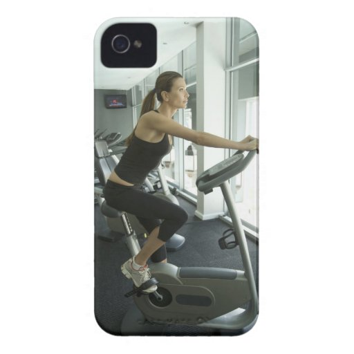 Woman working out in a gym 3 iPhone 4 Case-Mate cases