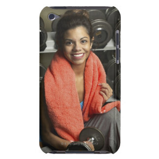 Woman working out iPod touch cover