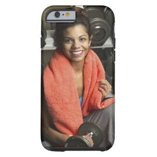 Woman working out tough iPhone 6 case