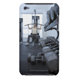 Woman working out with weights 2 barely there iPod cover