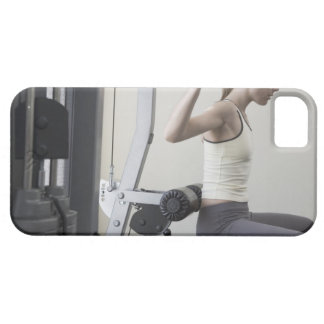 Woman working out with weights iPhone 5 cases