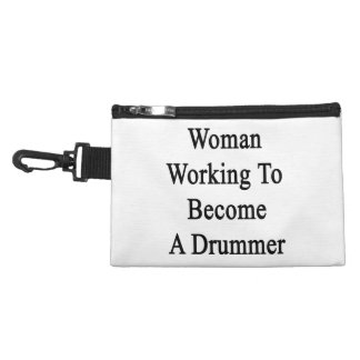 Woman Working To Become A Drummer Accessory Bag