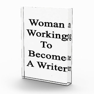 Woman Working To Become A Writer Award