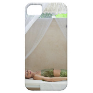 Woman wrapped in banana leaves at a spa in iPhone SE/5/5s case