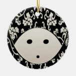 Woman Wrapped in Damask Headcovering Christmas Tree Ornaments