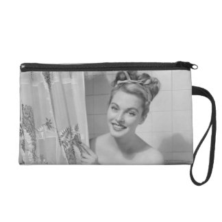 Woman Wrapped Up Wristlet Clutch