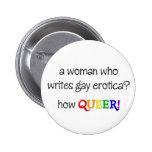 Woman Writer Button
