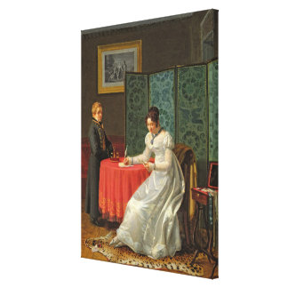 Woman Writing a Letter Canvas Print