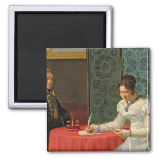 Woman Writing a Letter Magnet