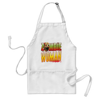 Woman Zombie Head Adult Apron