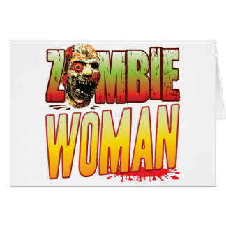 Woman Zombie Head Cards