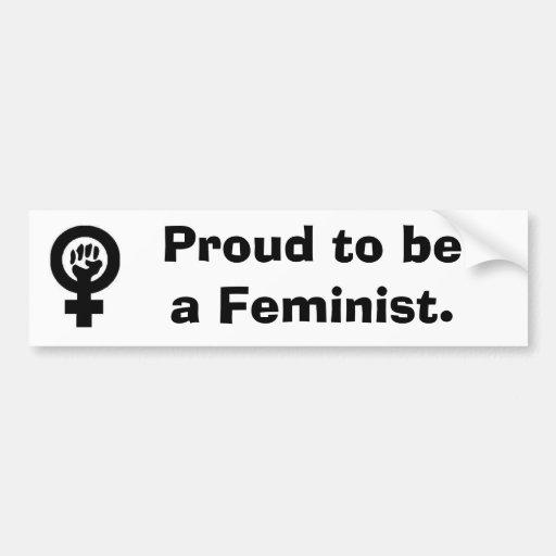 WomanFist, orgulloso ser una feminista Etiqueta De Parachoque