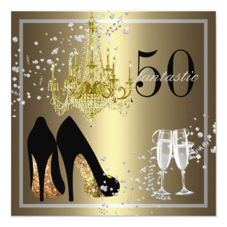 Woman's 50th Birthday Celebration Card