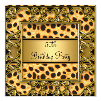 Womans 50th Birthday Party Jaguar Invitation