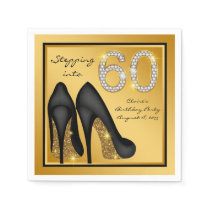 Womans 60th Birthday Party Napkin