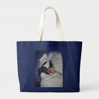 Woman's Autumnal Twilight Serenade Canvas Bags