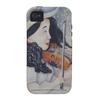 Woman's Autumnal Twilight Serenade Case-Mate iPhone 4 Cases