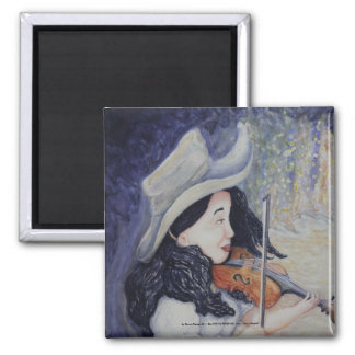 Woman's Autumnal Twilight Serenade Refrigerator Magnets