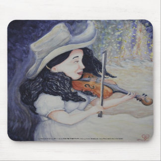 Woman's Autumnal Twilight Serenade Mouse Pad