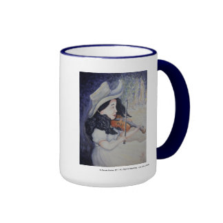 Woman's Autumnal Twilight Serenade Coffee Mugs
