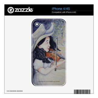 Woman's Autumnal Twilight Serenade Decals For The iPhone 4S