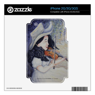 Woman's Autumnal Twilight Serenade iPhone 3G Skin