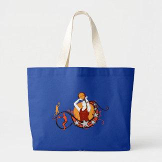 Woman's Basketball Illustration Bags