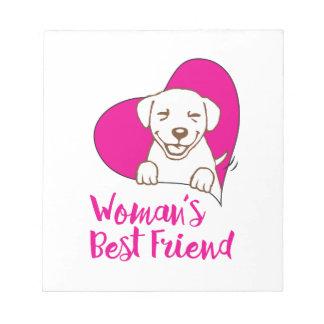Woman's Best Friend - Dog Shirt Notepad