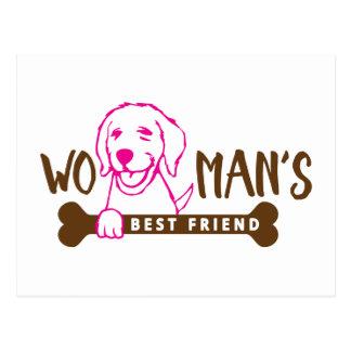 Woman's Best Friend - Dog Shirt Postcard