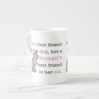 Woman's Best Friend - Her Cat bone china mug
