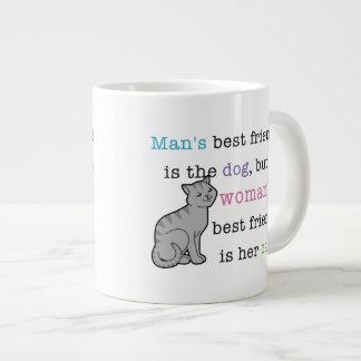 Woman's Best Friend - Her Cat Jumbo Mug