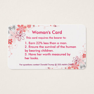 Woman's Card