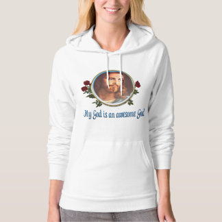 Womans Christian clothing Awesome God Hoodie