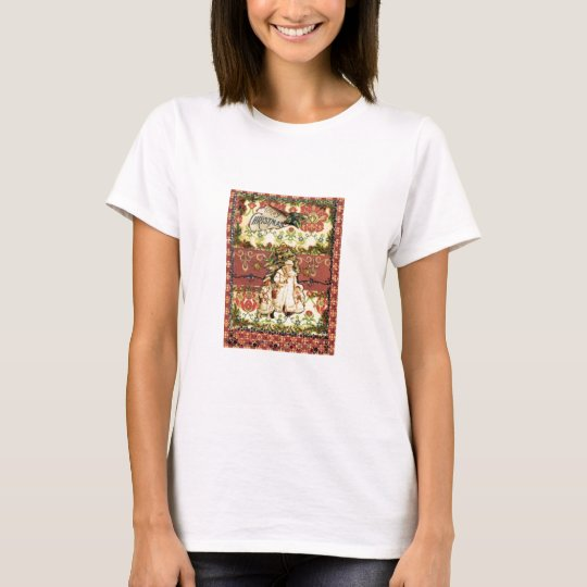 woman's christmas tee shirt