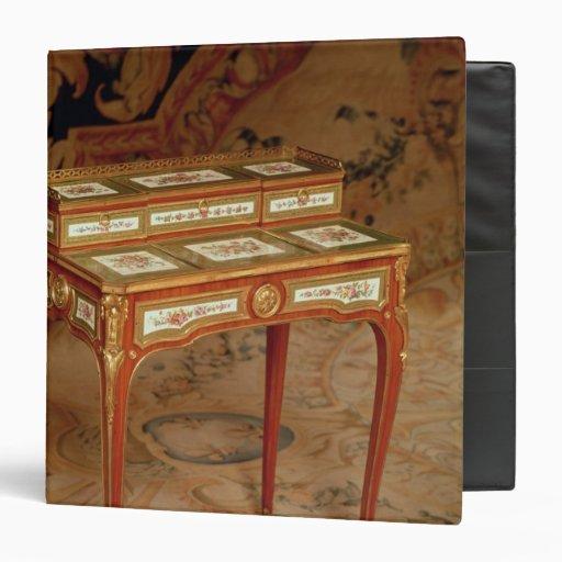 Woman's desk with panels of Sevres porcelain Vinyl Binder