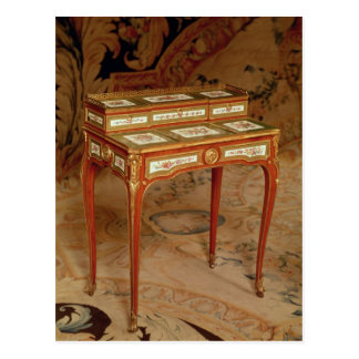 Woman's desk with panels of Sevres porcelain Postcard