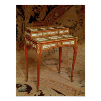 Woman's desk with panels of Sevres porcelain Poster