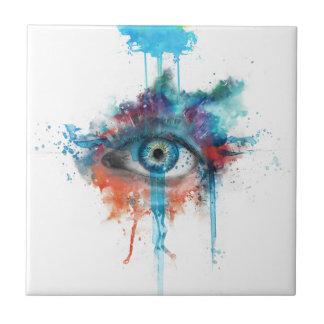 Woman's eye ceramic tile
