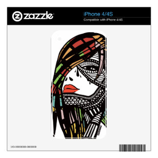 Woman's eye decal for iPhone 4S