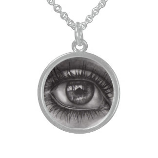 woman's eye necklace