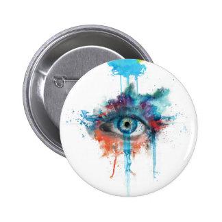 Woman's eye pinback button