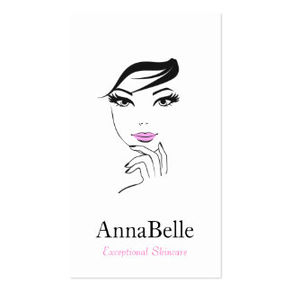 Woman's Face Beauty Salon Cosmetologist Business Card