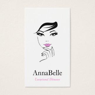 Woman's Face Beauty Salon Cosmetologist Business Card