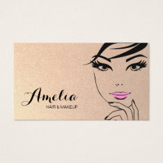 Woman's Face Beauty Salon & Spa Gold Business Card at Zazzle