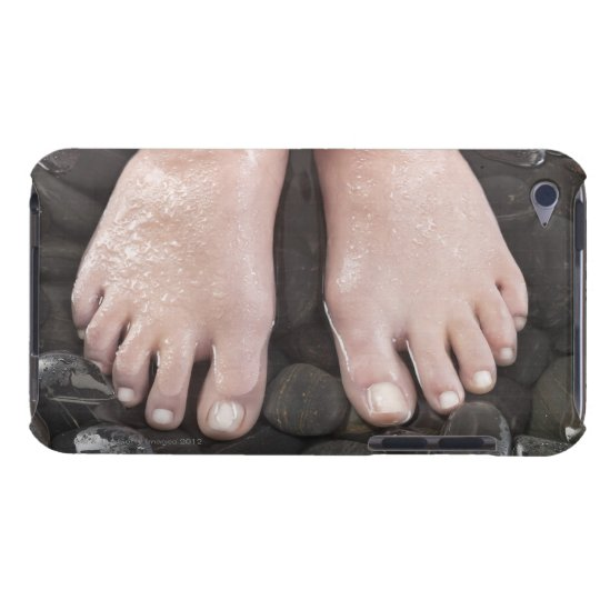 Woman's feet on pebbles iPod touch Case-Mate case