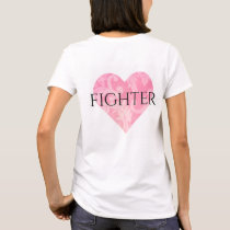 Woman's Fighter T-Shirt w Heart rv